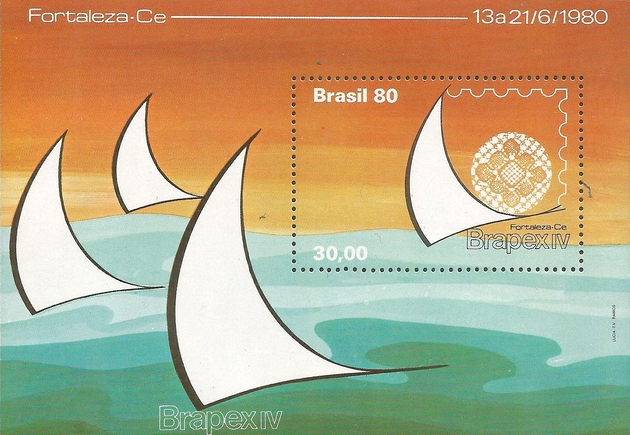 [National Stamp Exhibition &quot،Brapex IV&quot، - Fortaleza, Ceará, Brazil, type ]