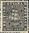 "[Sailing Ship ""Sandbach"" - 1mm Between Value and ""CENTS"". See also No.12-20, type G2]"