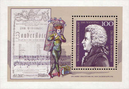 [The 200th Anniversary of the Death of Wolfgang Amedeus Mozart, Composer, type ]