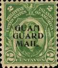 """[Philippines Postage Stamps Overprinted """"GUAM - GUARD MAIL"""", type C]"""