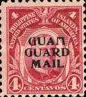 """[Philippines Postage Stamps Overprinted """"GUAM - GUARD MAIL"""", type C1]"""