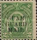 """[Philippines Postage Stamps Overprinted """"GUAM - GUARD - MAIL"""", type E]"""