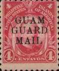 """[Philippines Postage Stamps Overprinted """"GUAM - GUARD - MAIL"""", type E1]"""