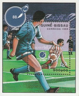 [International Stamp Exhibition &quot،ESSEN  88&quot، - Essen, Germany and European Football Championship, type ]