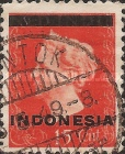 "[Queen Wilhelmina - Netherlands Indies Postage Stamps Overprinted ""INDONESIA"" - Bar 1,8mm High, type A]"