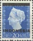 "[Queen Wilhelmina - Netherlands Indies Postage Stamps Overprinted ""INDONESIA"" - Bar 1,8mm High, type A1]"
