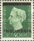 "[Queen Wilhelmina - Netherlands Indies Postage Stamps Overprinted ""INDONESIA"" - Bar 1,8mm High, type A3]"