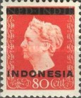 "[Queen Wilhelmina - Netherlands Indies Postage Stamps Overprinted ""INDONESIA"" - Bar 1,8mm High, type A4]"