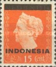 "[Queen Wilhelmina - Netherlands Indies Stamps Overprinted ""INDONESIA"" - Bar 2,2mm High, type A5]"