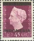 "[Queen Wilhelmina - Netherlands Indies Stamps Overprinted ""INDONESIA"" - Bar 2,2mm High, type A8]"