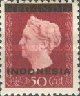 "[Queen Wilhelmina - Netherlands Indies Stamps Overprinted ""INDONESIA"" - Bar 2,2mm High, type A9]"