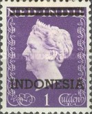 "[Queen Wilhelmina - Netherlands Indies Postage Stamps Overprinted ""INDONESIA"" - 2 Bars, type B]"