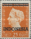 """[Queen Wilhelmina - Netherlands Indies Postage Stamps Overprinted """"INDONESIA"""" - 2 Bars, type B3]"""