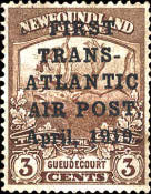 "[Airmail - No 106 Overprinted ""FIRST TRANS-ATLANTIC AIR POST April, 1919"", type CC]"