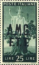 "[Democracy - Italy Postage Stamps of 1945 Overprinted ""A.M.G.F.T.T"", type A13]"