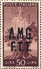 "[Democracy - Italy Postage Stamps of 1945 Overprinted ""A.M.G.F.T.T"", type A15]"