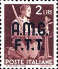 "[Democracy - Italy Postage Stamps of 1945 Overprinted ""A.M.G.F.T.T"", type A3]"