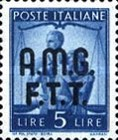 "[Democracy - Italy Postage Stamps of 1945 Overprinted ""A.M.G.F.T.T"", type A6]"