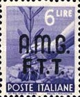 "[Democracy - Italy Postage Stamps of 1945 Overprinted ""A.M.G.F.T.T"", type A7]"