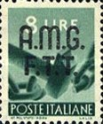 """[Democracy - Italy Postage Stamps of 1945 Overprinted """"A.M.G.F.T.T"""", type A8]"""