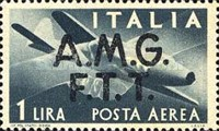 """[Airmail -  - Italy Postage Stamps of 1945 Overprinted """"A.M.G.F.T.T"""", type B]"""