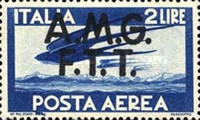 """[Airmail -  - Italy Postage Stamps of 1945 Overprinted """"A.M.G.F.T.T"""", type B1]"""