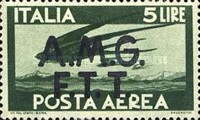 """[Airmail -  - Italy Postage Stamps of 1945 Overprinted """"A.M.G.F.T.T"""", type B2]"""