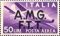 """[Airmail -  - Italy Postage Stamps of 1945 Overprinted """"A.M.G.F.T.T"""", type B5]"""