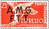 """[Express Stamps - Italy Postage Stamps of 1947 Overprinted """"A.M.G.F.T.T."""", type C1]"""