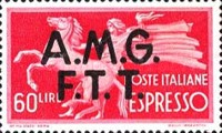 """[Express Stamps - Italy Postage Stamps of 1947 Overprinted """"A.M.G.F.T.T."""", type C3]"""
