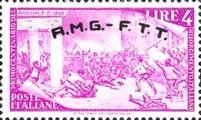 "[The 100th Anniversary of the 1848 Uprisings - Italy Postage Stamps Overprinted ""A.M.G.- F.T.T."", type E1]"