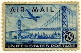 Postage stamp categories - airmail stamp