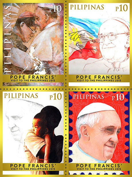 Pope Francis commemorative stamps
