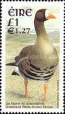 postage stamp design - Ireland bird dual currency stamp