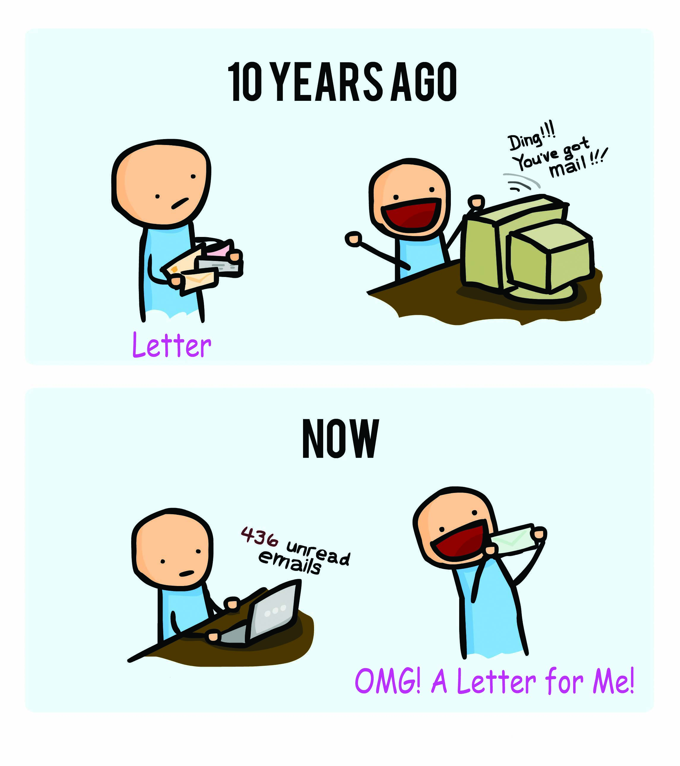stamp collecting - letter vs email