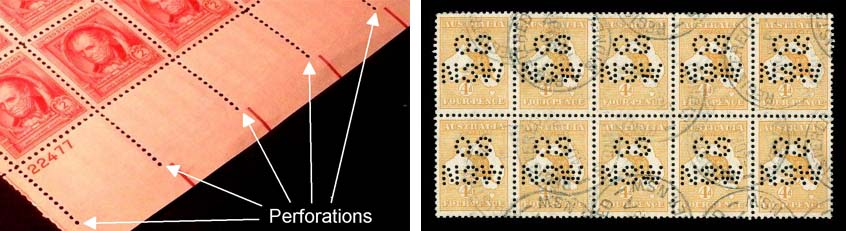perforated stamp
