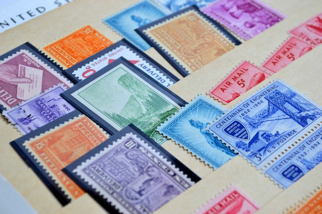 sort postage stamps
