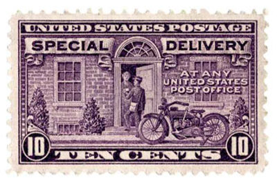 express mail or special delivery stamp